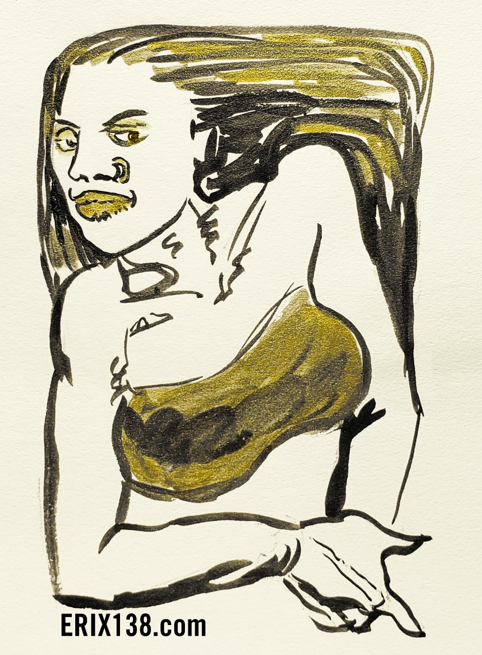 Golden Girl 2003 Ink and Gold