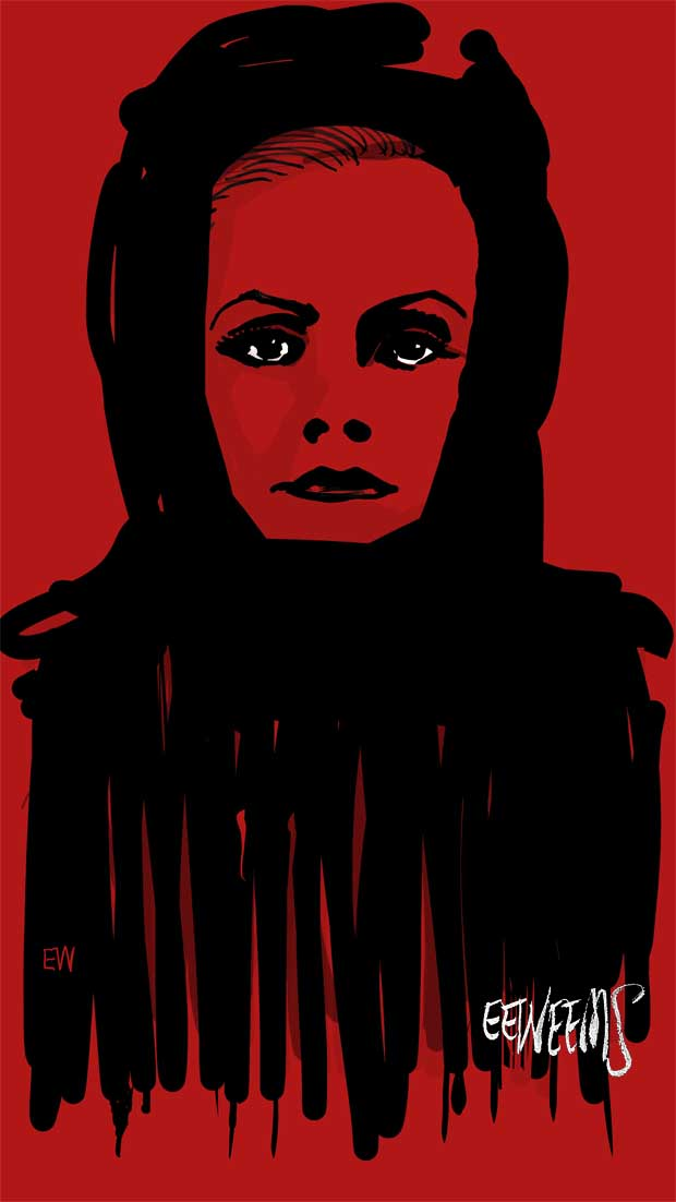 Greta Garbo - Red art by Erik Weems