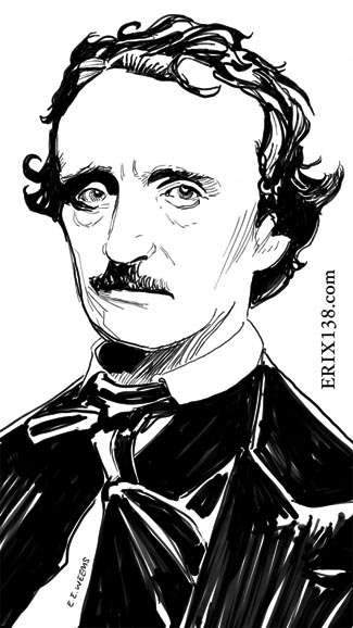 Edgar Allan Poe artwork by Erik Weems