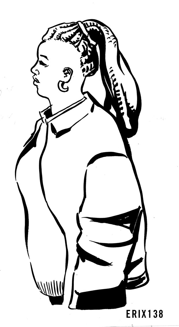 Ink Jacket Lady