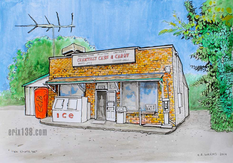 Chantilly Cash and Carry - Virginia - Watercolor