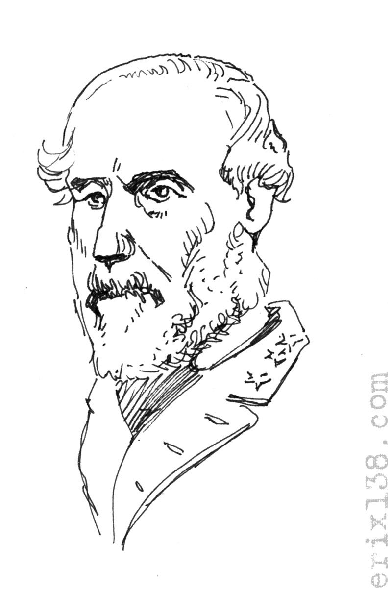 Robert E Lee Coloring Page Robert e lee portrait drawing