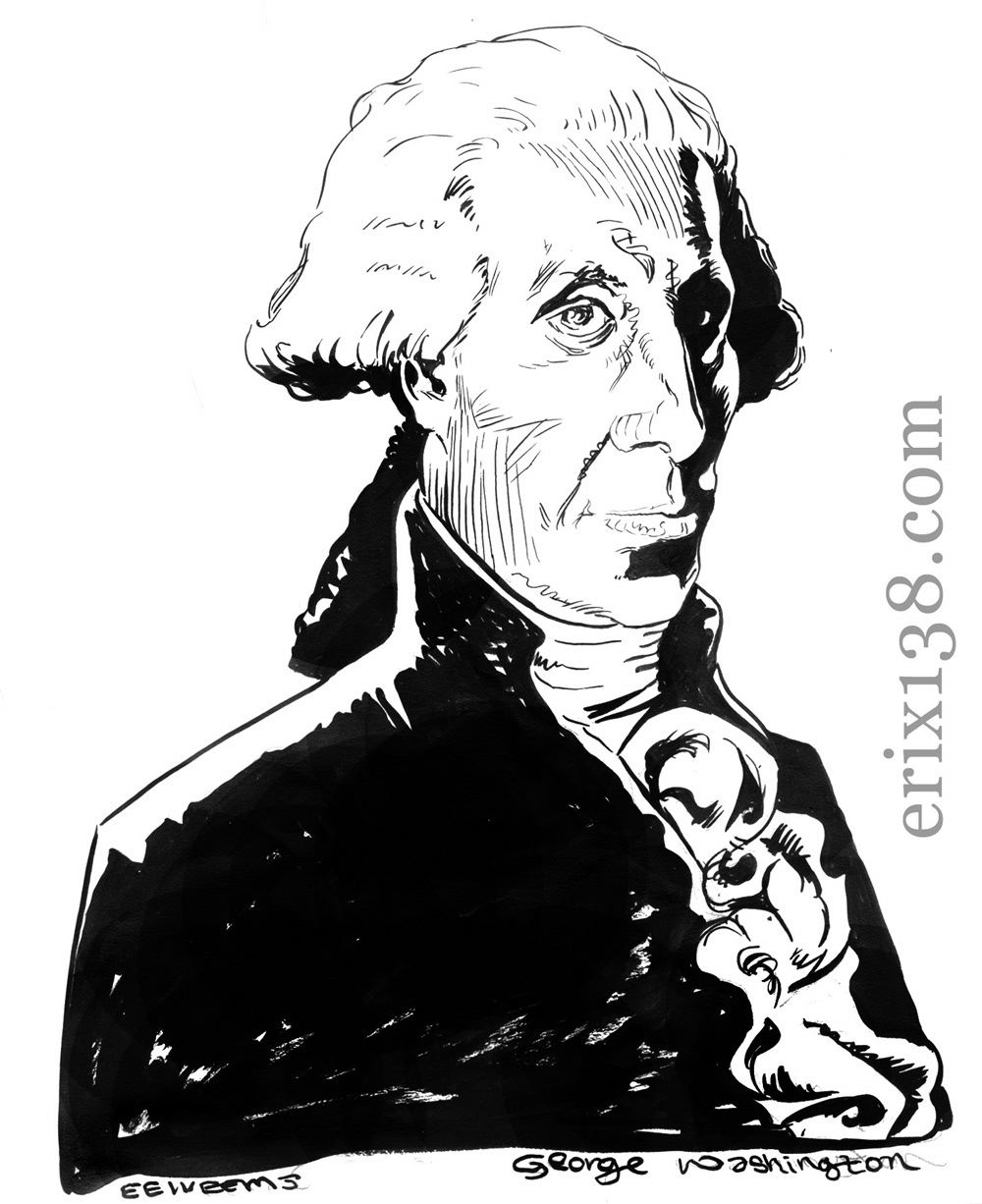George Washington Quarter Coloring Page Displaying 12 Images
