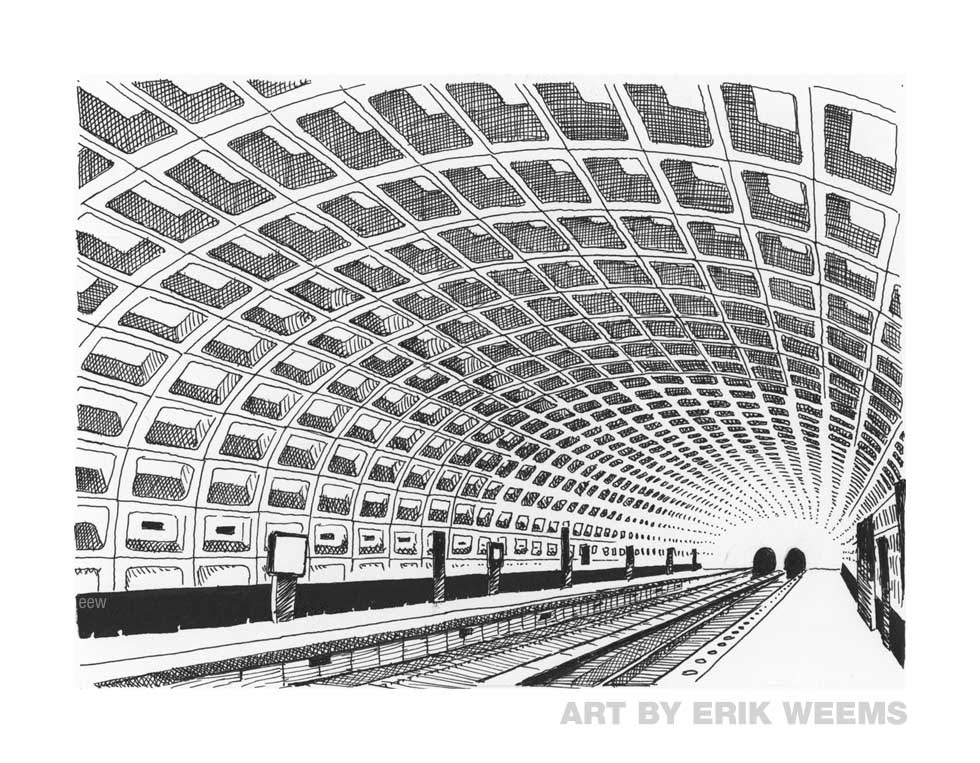 Washington DC Metro Station subway art by Erik Weems